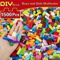 1500 шт. блоки DIY блоки конструктора город животное модель сборки строительные блоки Развивающие игрушки для детей мальчиков и девочек Подарк...