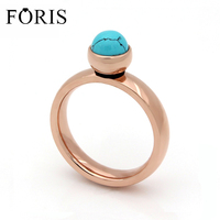 2016 High Quality Exquisite Stainless Steel Plated Rose Gold Big Crystal Ring For Wedding Promotion Can