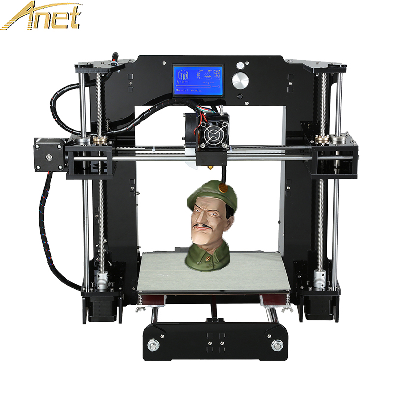 Original Anet A6/Auto leveling A6 Full Acrylic Frame 3D printer machine Industrial Extruder Reprap 3d printer Kits DIY anet auto leveling