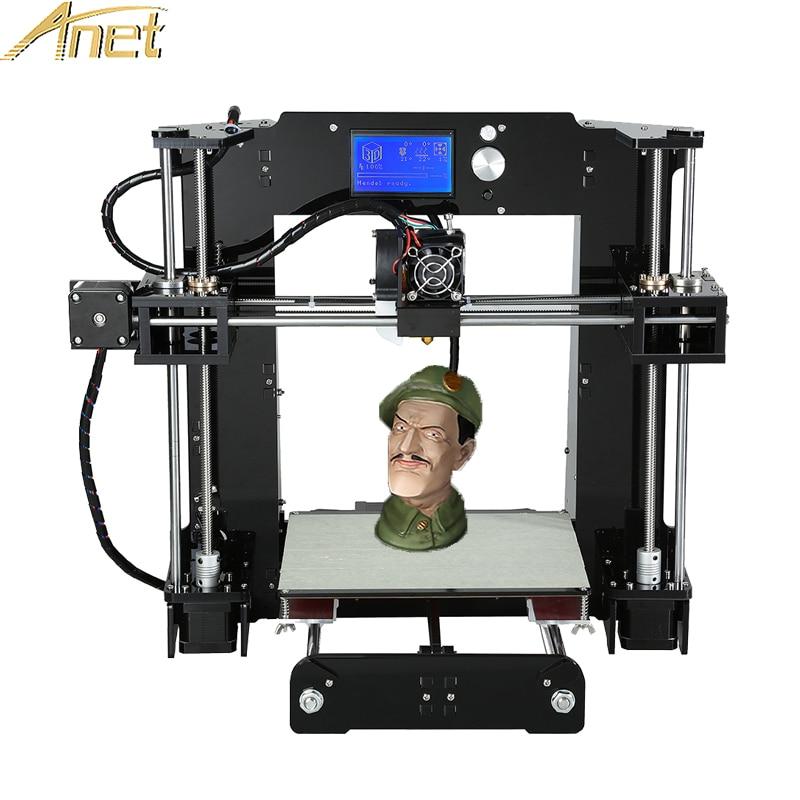 Original Anet A6/Auto leveling A6 Full Acrylic Frame 3D printer machine Industrial Extruder Reprap 3d printer Kits DIY thyssen parts leveling sensor yg 39g1k door zone switch leveling photoelectric sensors