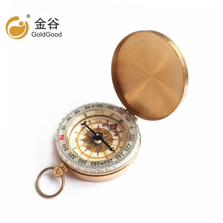 Boussole en métal flip lumière boussole pur cuivre montre de poche boussole