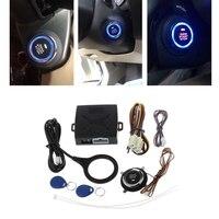 Auto Car Alarm Engine Push Start Button RFID Lock Keyless Entry System Starter Anti-theft System
