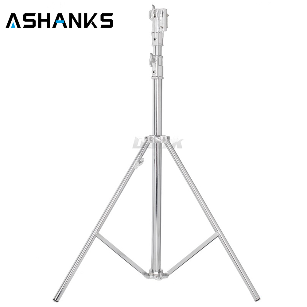 ASHANKS Heavy Duty Light Stand Studio Combo Stand  208CM stainless Tripod load 20kg for light 2k 5k HMI compact par 1.2k M18 mz 2400fp 7 8 feet 240cm heavy duty cushioned premium black light stand for video portrait and product photography no00dc