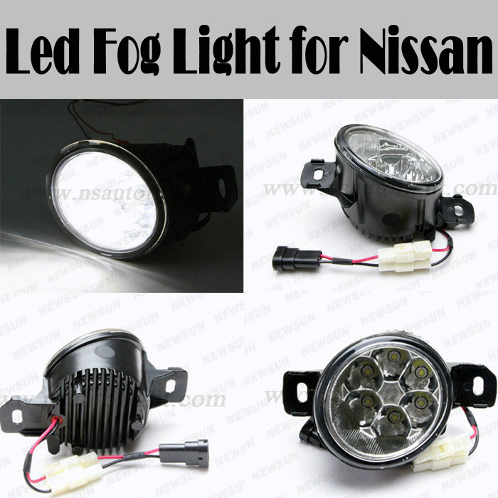 2016 car accessories Auto fog light for Nissan for Livina for Qashqai for TEANA for NEW SYLPHY DC12-24V led front fog light lamp teana fog light 2pcs set led sylphy daytime light free ship livina fog light