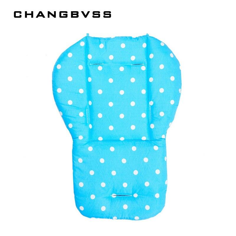5 Colors Cheap Baby Stroller Cushion, Pram Padding Liner/Car Seat Pad Waterproof Child Pushchair Feeding Chair Thick Mat