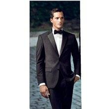 Lana negro mezclado boda Trajes novio Esmoquin negocios Trajes formal FRAC  Trajes boda del novio 2 unidades (chaqueta + Pantalon. 2765d51e67b