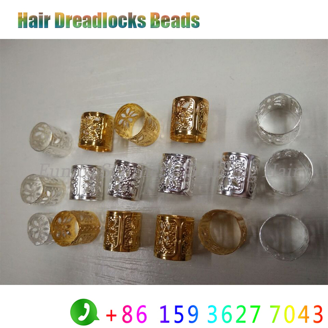 Golden Silver Colorful Round Hair Beads Rings 1000pcs Havana