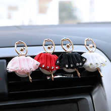 Pretty Ballet Girl Car Air Conditioner Perfume Clip Exquisite Plastic Doll Styling Ladies Decorations
