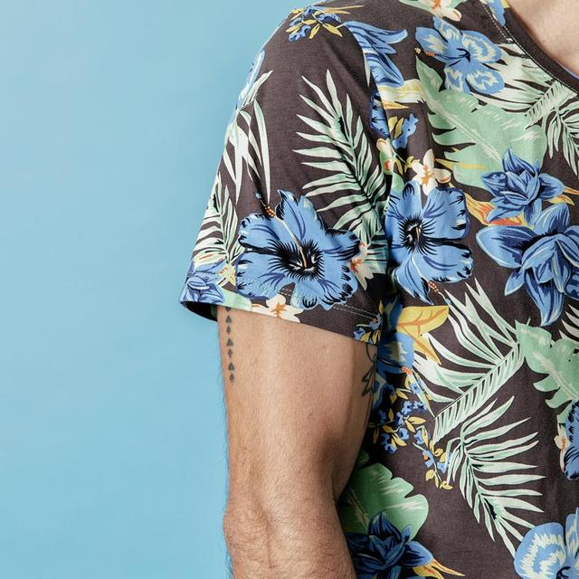 Men's Graphic T-shirts Summer New Hawaii Printed Casual Floral