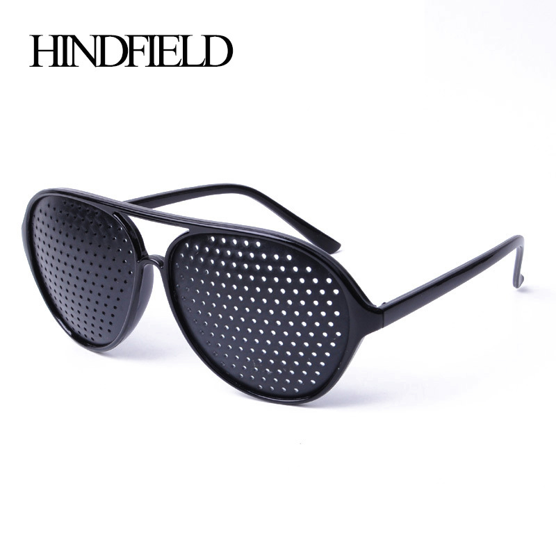 HINDFIELD Penjagaan Mata Perhatian Cat Eye Pinhole Glasses Women Spectacles Astigmatism Eyesight Meningkatkan Eyewear Plastic Natural Healing Chea