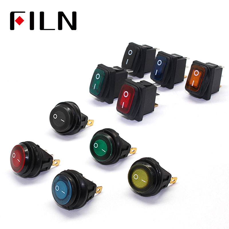 FILN mini on off seal waterproof rocker <font><b>switch</b></font> in 12v <font><b>220V</b></font> IP67 lighting <font><b>6A</b></font> 250vac push button <font><b>switch</b></font> rocker <font><b>switch</b></font> image