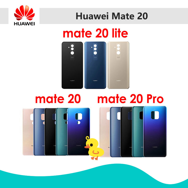 Housing-Case Battery-Cover Mate20 Replace Glass-Panel Back Huawei 20-Lite Rear Door