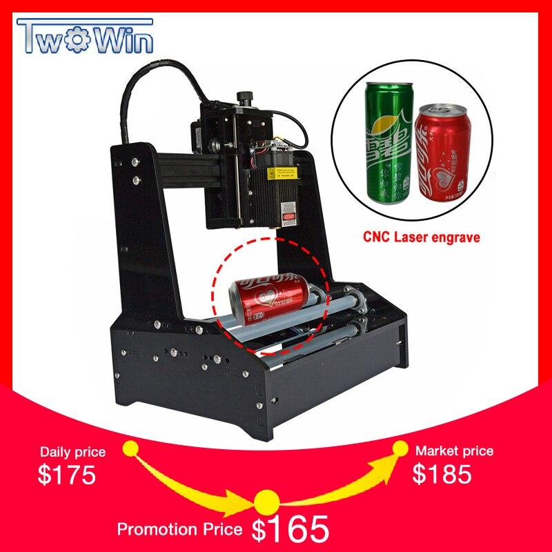 7 W 10 W Laser petite Machine de gravure cylindrique graver cylindrique en acier inoxydable métal automatique bricolage traceur routeur