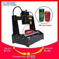7W 10W Laser Small Cylindrical Engraving Machine Engrave Cylindrical Stainless Steel Metal Automatic DIY Cutting Plotter Router