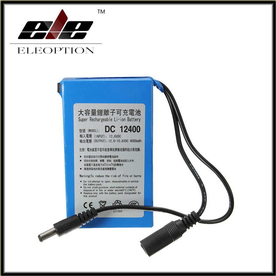 2017 High Quality Super Rechargeable Portable Lithium-ion Battery <font><b>DC</b></font> 12V 4000mAh DC12400 With Plug image