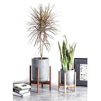 Flower Pot Wood Bracket Cross Beech Wood Flower Pot Planter Rack Stand Holder Pot Bracket Solid Home Decor