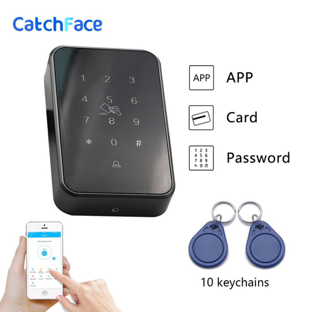 Access Control Reader Wifi Digital Bluetooth Electronic Smart Door Lock Long Range Control Glass Door Safe Lock For Office