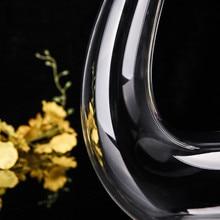 Искусственный дует руководство холодной с свинца кристалл Стекло 700 мл U Форма прозрачный графин вина