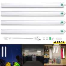LED Tube Lamp Touched Control Cabinet Bar light Bulb 600mm 6W LED Tube Bulb Under Closet Light Decoration Home Closet Kitchen(China)