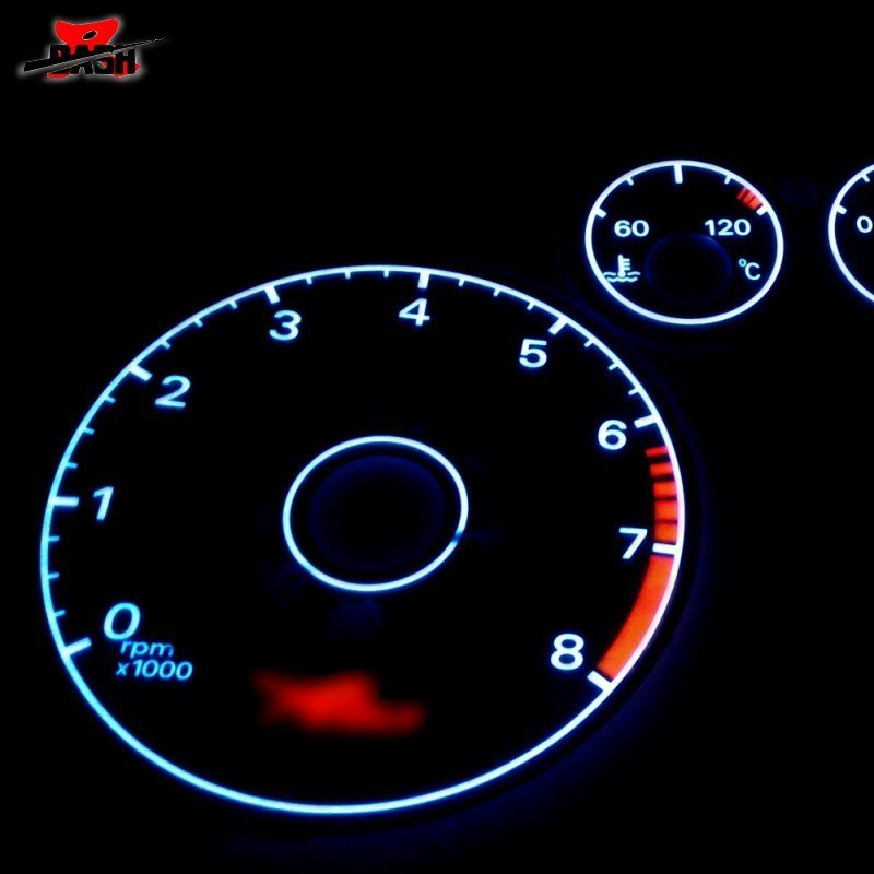 Us 26 0 Dash El Glow Gauge For Ford Focus 2000 2002 Reverse Glow Black Face White Light In Speedometers From Automobiles Motorcycles On
