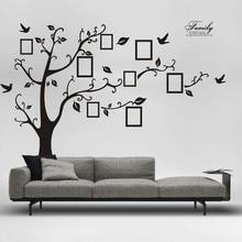 ثلاثية الأبعاد شجرة الصور DIY بها بنفسك البلاستيكية ملصقات جدار ديكور المنزل الشارات لاصق ملصق الإبداعية خلفية ملصقات جدارية ديكور فني للمنزل