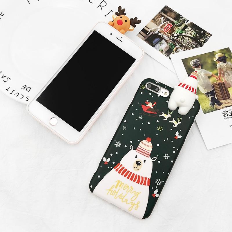 HTB1mw.yb TI8KJjSsphq6AFppXau - Christmas Gift Phone Case For iPhone 6 6S 7 8 Plus Cartoon Christmas Deer & Snowman Soft TPU Phone Back Cover Cases PTC 284