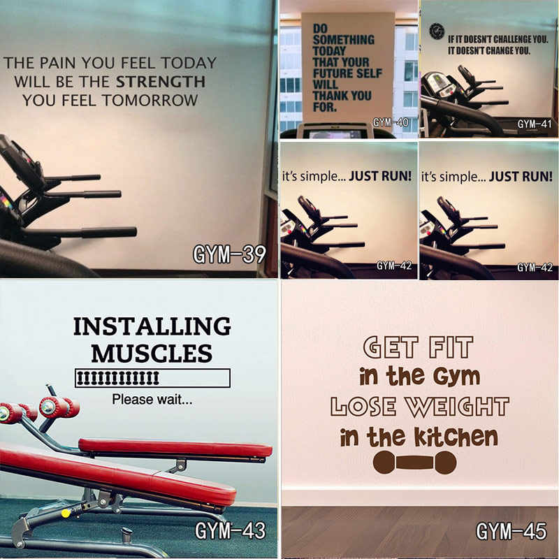 Detail Feedback Questions About Home Gym Design Wall Sticker Quotes