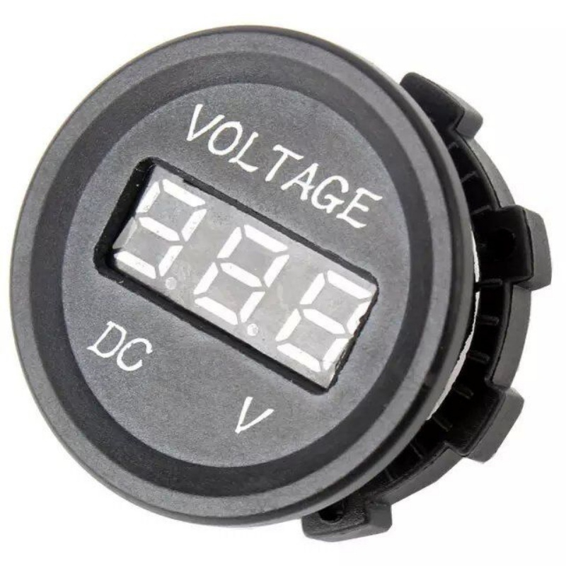 High Quality Professional LED Digital Display 12 V 24 V DC Auto Car Motorcycle Voltmeter Metro