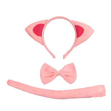 c55a400c779 Children Adult Pink Cat Headband Bow Tie Tail Cosplay Birthday Party  Performance Props halloween costume for