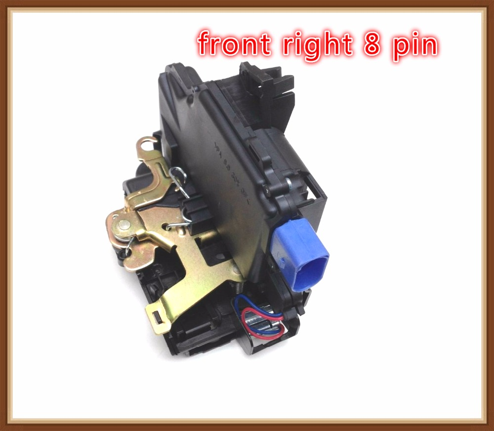 FRONT right Door Lock Mechanism FOR VW NEW BEETLE POLO 9N TRANSPORTER t5 SKODA FABIA ROOMSTER SUPERB SEAT CORDOBA (6L) IBIZA