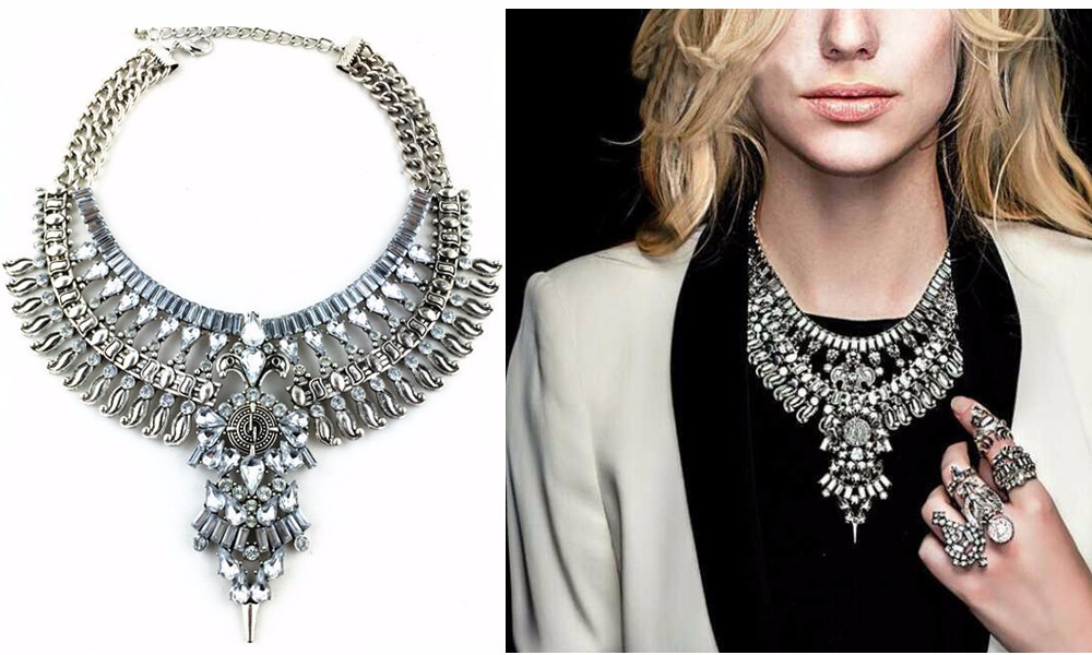 Ztech 18 Women Necklaces & Pendants Vintage Crystal Maxi Choker Statement Collier Femme Boho Big Fashion Jewellery Wholesale 2