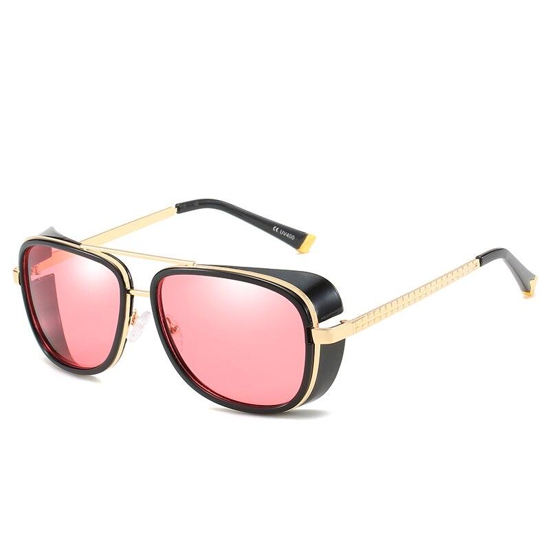Luckace Iron Man 3 Matsuda TONY stark Sunglasses Men Coating Retro Vintage Designer Sun glasses Oculos Masculino Gafas de