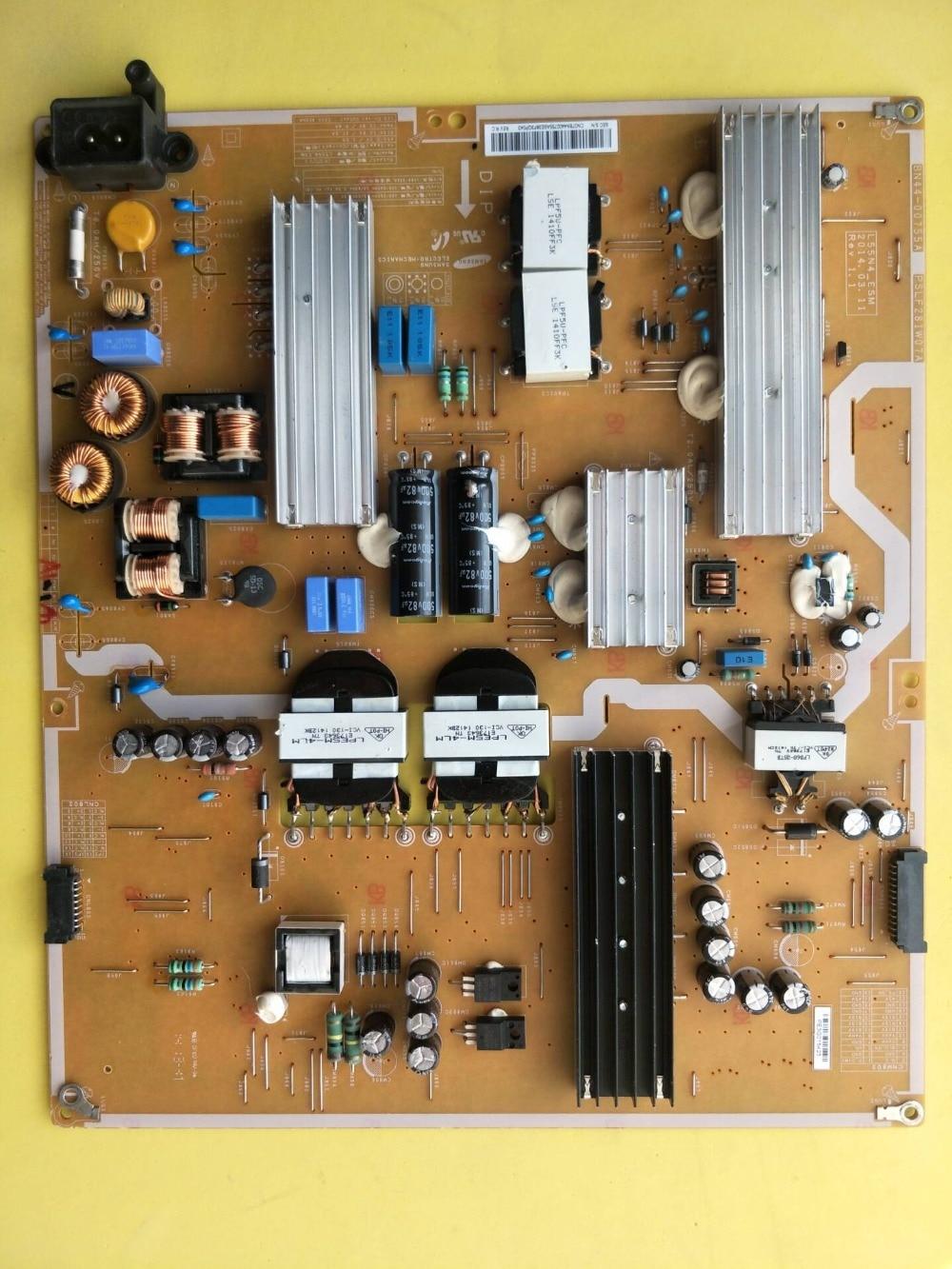 Original Samsung UA55HU7000J power supply board BN44-00755A L55N4-ESM PSLF281W07A TV Power supply LPE5M-4LM original 32s12hr 32k03hr 32l05hr power supply board 168p p32alk 00 10