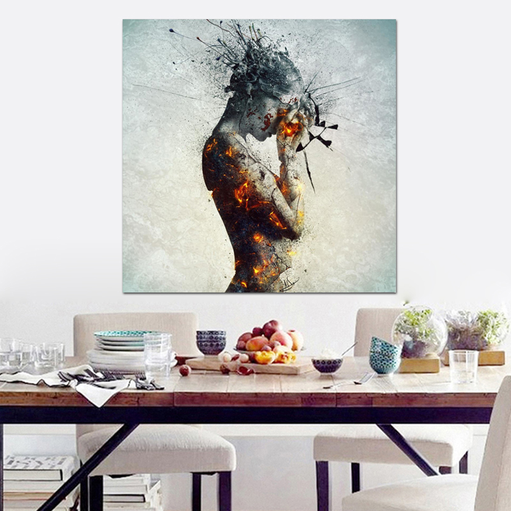 Hand Painted Female Nude Paintings Naked Women Figure Pictures Modern Home Decor Wall Art Sexy Woman Painting