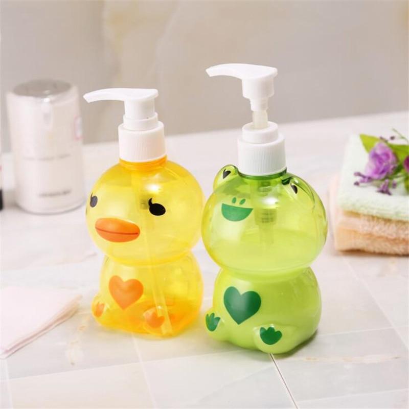 HOMETREE 250ml Creative Shower Gel Shampoo Bottle Pressing Cartoon Sub Bottle Loaded Detergent Soap Bottle Lotion Bottle H574 in Portable Soap Dispensers from Home Garden