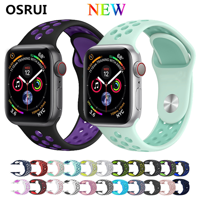 Bracelet Silicone Sport pour Apple bracelets de montre 4 42mm 44mm correa montre Apple 38mm 40mm bracelet bracelet bracelet montre bracelet iwatch 4/3/2/1 NikeBracelet Silicone Sport pour Apple bracelets de montre 4 42mm 44mm correa montre Apple 38mm 40mm bracelet bracelet bracelet montre bracelet iwatch 4/3/2/1 Nike