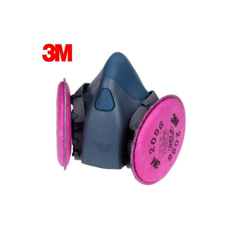 3M 7502+2096 Half Facepiece Mask Reusable Respirator P100 Respiratory Protection with Nuisance Level Acid Gas LT112 3m 6300 6003 half facepiece reusable respirator organic mask acid face mask organic vapor acid gas respirator lt091