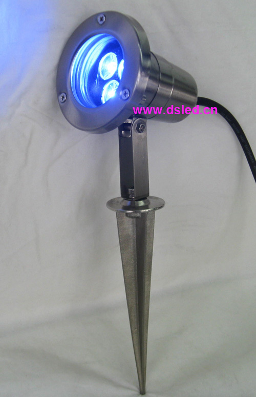 Free shipping by DHL !! Good quality,high power 3W LED garden light,spike LED spotlight,DS-10-46-3W,Stainless steel,12V DC used good condition vx4a66105 with free dhl