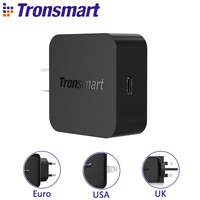 Cep telefonları ve Telekomünikasyon Ürünleri'ten Cep Telefonu Şarj Cihazları'de Tronsmart WCP01 şarj cihazı hızlı şarj 3.0 18W güç teslimat 3.0 USB tipi C telefon şarj cihazı