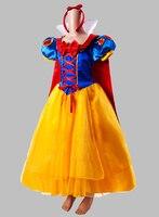 Хэллоуин Принцесса Белоснежка Взрослых Косплей Костюм с Плащ Платье Косплей Платье