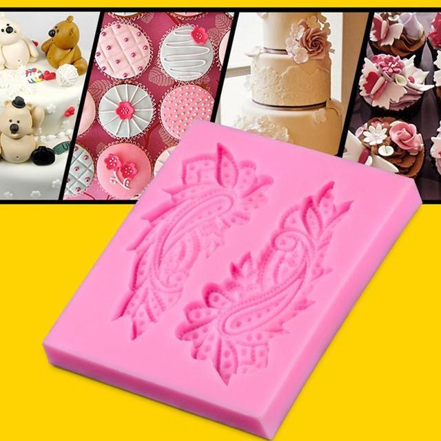 Veer fondant cakevorm siliconen mal cake decoratie bakken gereedschap DIY cakevorm