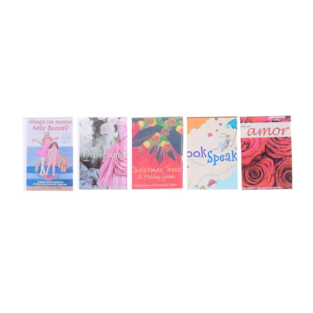 1//12 Maison de poupées Miniature 4pcs Coloré Notebooks Salle d/'étude