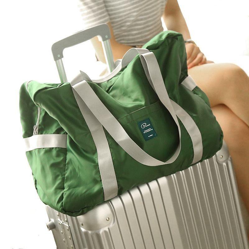 LHLYSGS mærke høj kvalitet vandtæt nylon rejsetaske kvinder stor kapacitet kuffert taske taske bærbar foldning rejse håndtaske