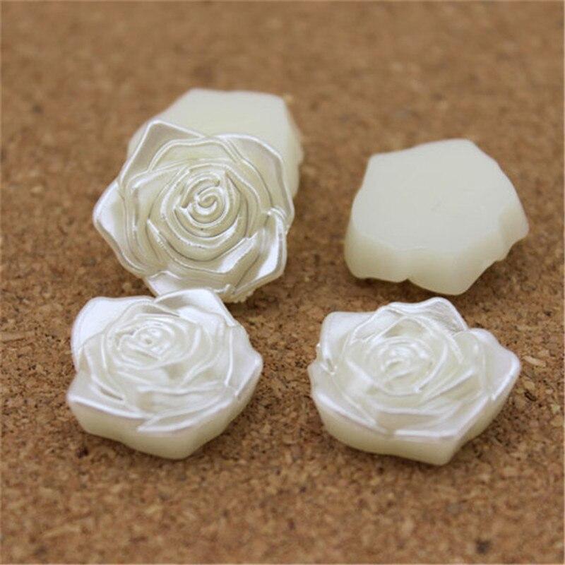 Linsoir 50 шт./лот цветок белый плоской задней половины искусственный жемчуг Бусины 18 мм кабошон Бусины для изготовления ювелирных изделий телефон украшения