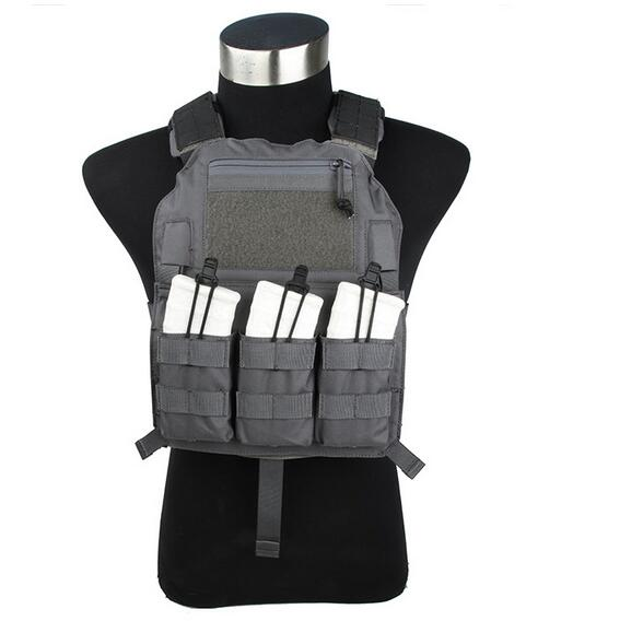 2745-WG Hunting Military Tactical Vest Grey Wargame Body Matte Waistcoat Armor Vest CS Outdoor Equipment