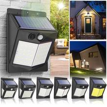 120 degrees IP65 waterproof Solar LED Wall Light PIR Motion Sensor 3 Modes Waterproof Outdoor Garden Yard Security Lamp new