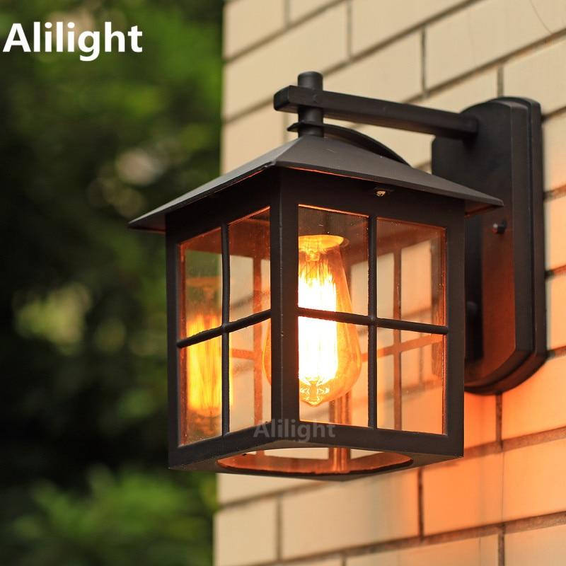 American Country Style Simple Wall Lamp Modern Waterproof