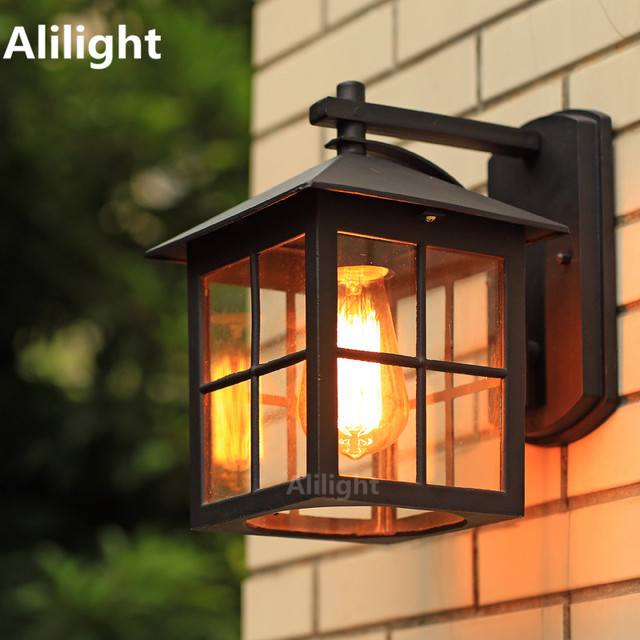 Outdoor Wall Sconce Lighting American country style simple wall lamp modern waterproof outdoor american country style simple wall lamp modern waterproof outdoor wall light retro nostalgia warehouse sconces lighting workwithnaturefo