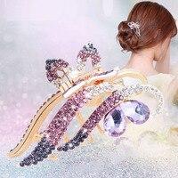 De gran tamaño Del Pelo Grips Headwear Corea Mujeres Pinza de Pelo de la Horquilla de Diamantes de Cristal