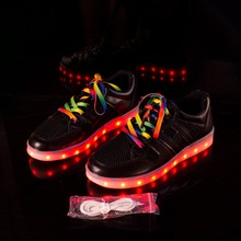 Yeafey Female Led Luminous Shoes Women Fashion Black Sneakers Krasovki White Color shoelaces Shoes Size 35-40 Glowing Sneakers